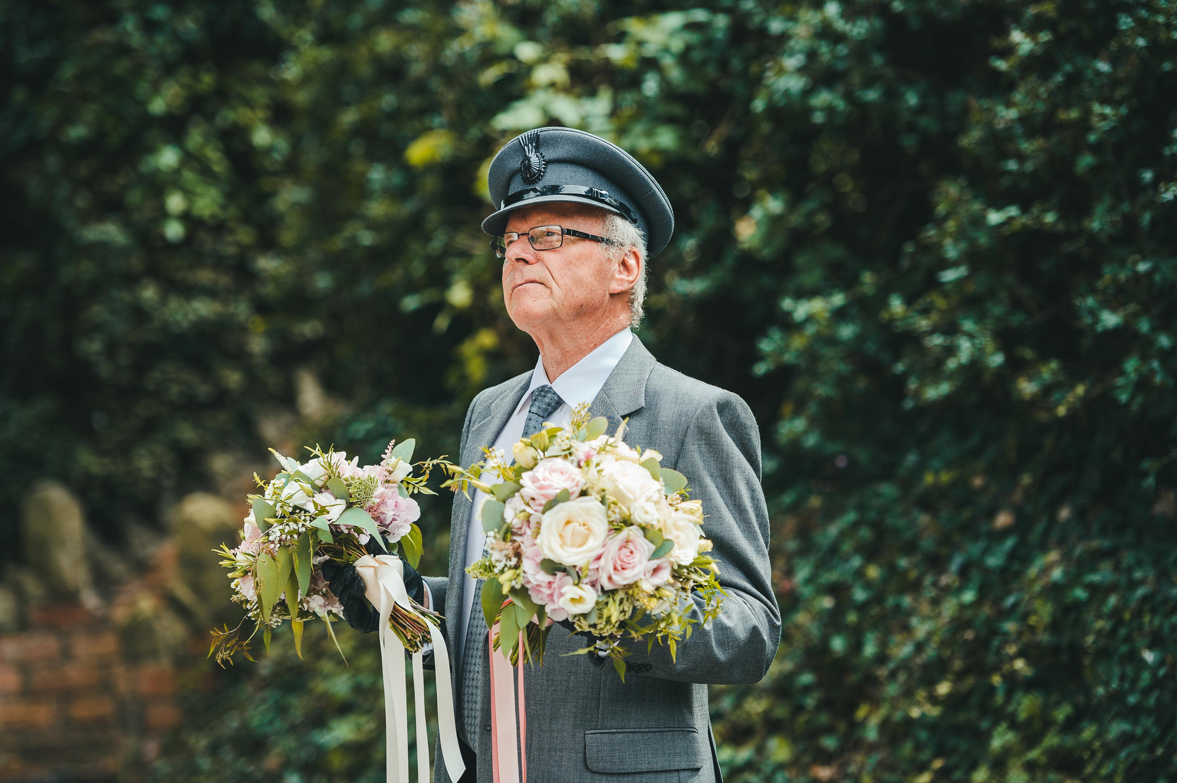 Helen & Andrew 2 designer wedding dresses by Caroline Castigliano