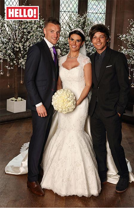 Rebekah Vardy designer wedding dress by Caroline Castigliano