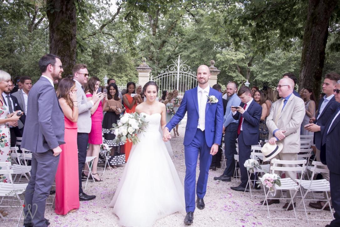 Jessica and Lawrence designer wedding dress by Caroline Castigliano