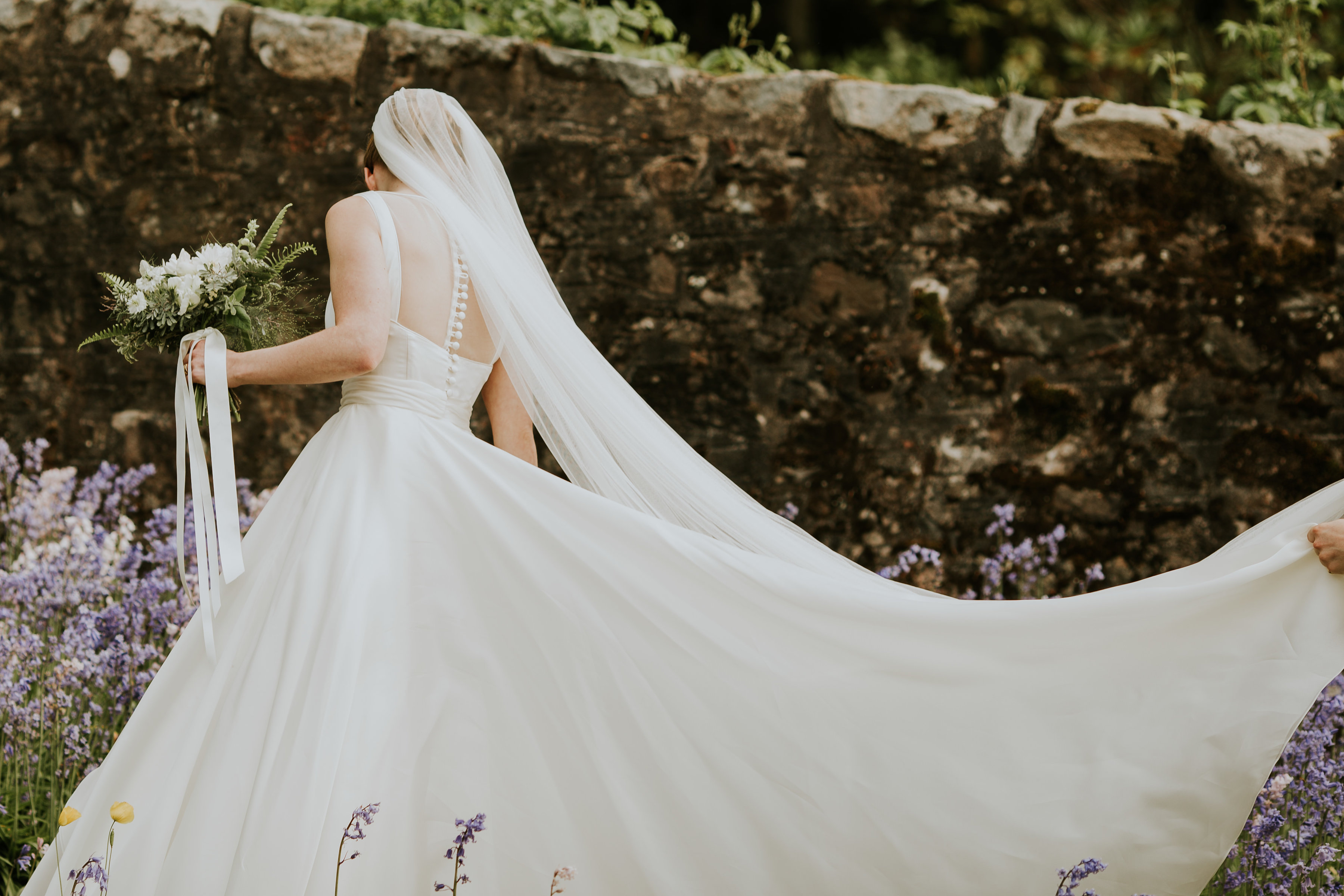 Araminta Campbell designer wedding dress by Caroline Castigliano